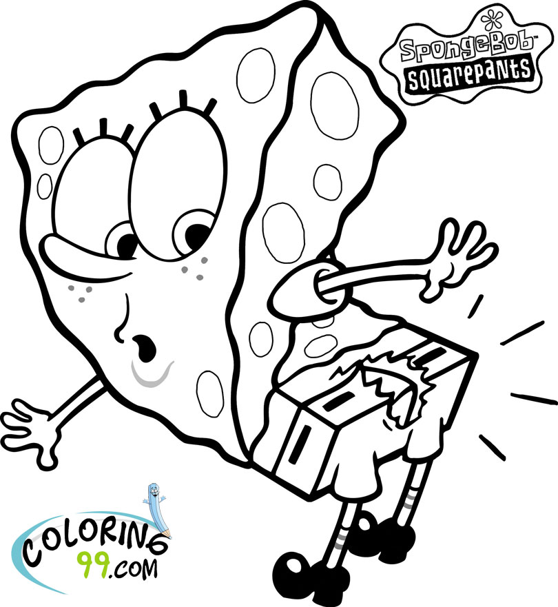 Spongebob squarepants coloring pages team colors for Coloring page spongebob