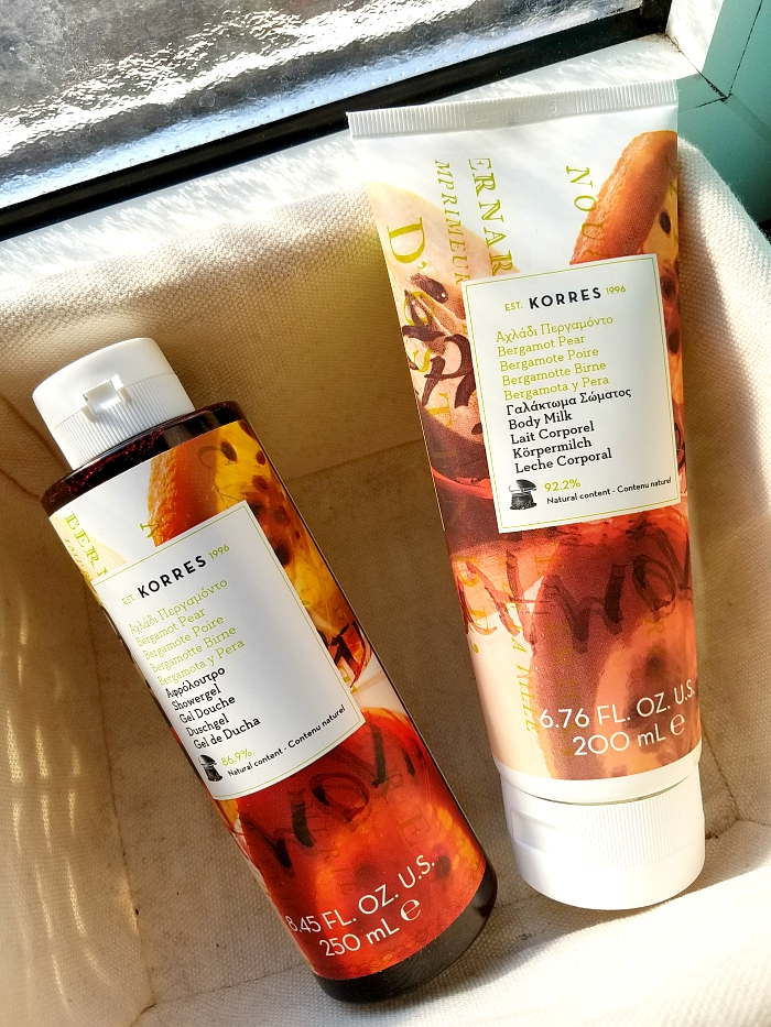 What´s in my bathroom - The Summer Edition - KORRES Bergamto & Pear Showergel and BOdy Milk