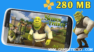 Shrek The Third PPSSPP ISO Highly Compressed
