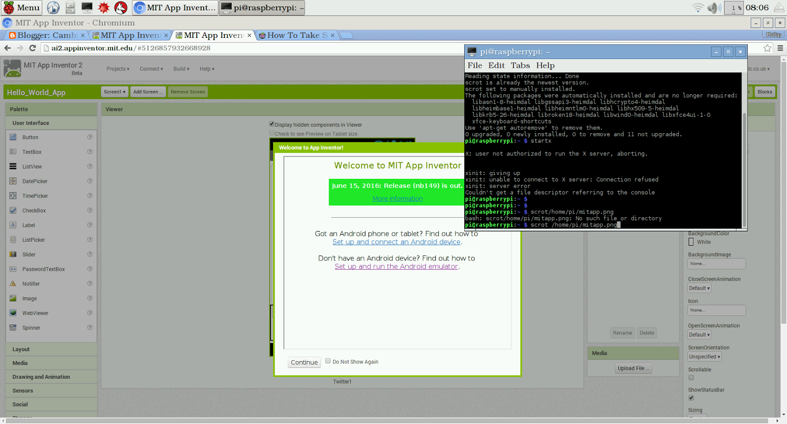 Creating Android Apps: Using MIT App Inventor 2 Part 1