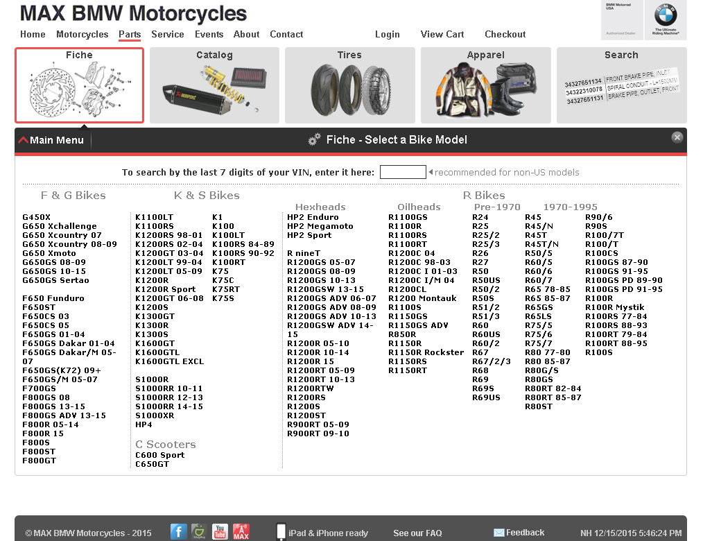 max bmw motorcycles parts & advice: december 2015
