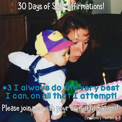 "30 Days of Self-Affirmations: Day 3: I always do the very best I can, on all that I attempt! For 30 days, I will be celebrating my own ""new year"" with self-affirmations. If you are interested in joining me, feel free to  write your own affirmations here, or  respond on my social media here: http://bit.ly/2JuKRWa"