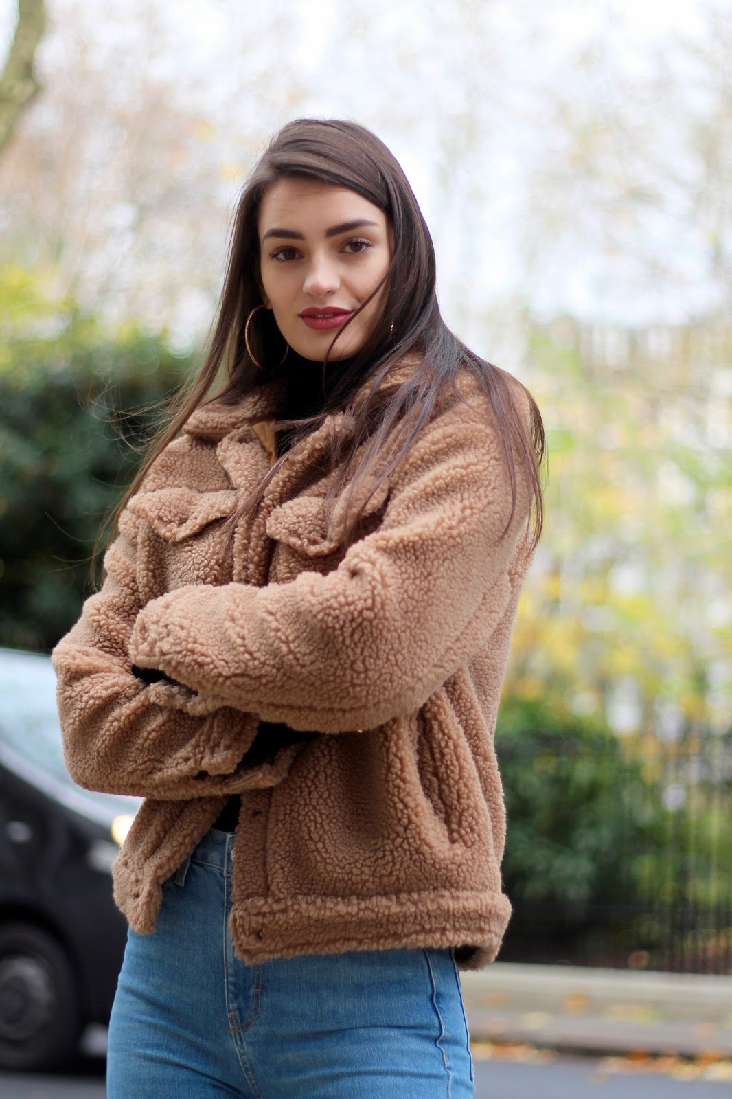 shearling trucker jacket missguided peexo blog