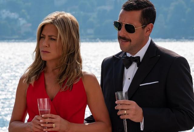 """Adam Sandler e Jennifer Aniston nas primeiras imagens da comédia """"Mistério no Mediterrâneo"""""""