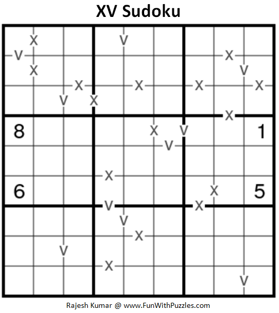 XV Sudoku (Fun With Sudoku #198)