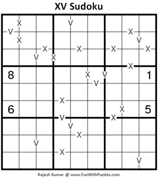 XV Sudoku (Fun With Sudoku #198)