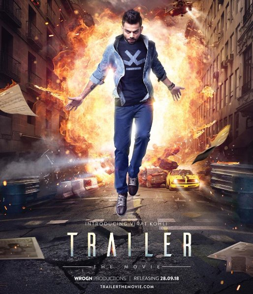 Trailer-The Movie new upcoming movie first look, Poster of Virat kohli next movie download first look Poster, release date