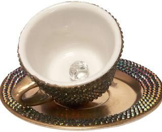 Lady Gaga Swarovski taza de té