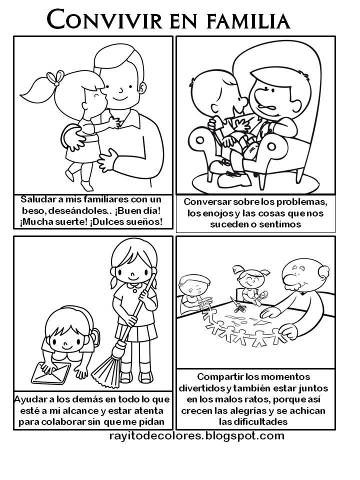 Imagenes Para Colorear Sobre Normas De Convivencia Normas De