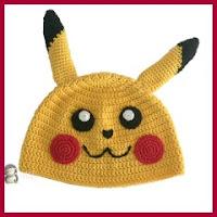 Gorro Pikachu a crochet