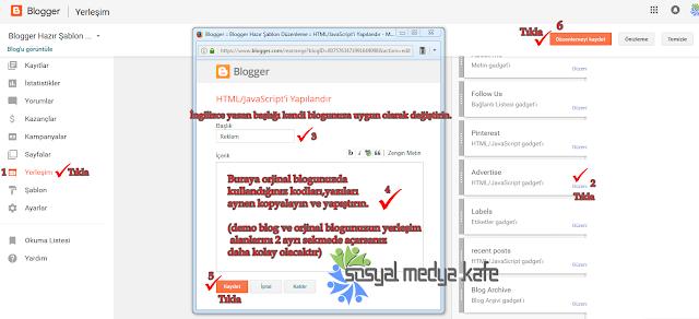 Blogger Şablon Düzenleme
