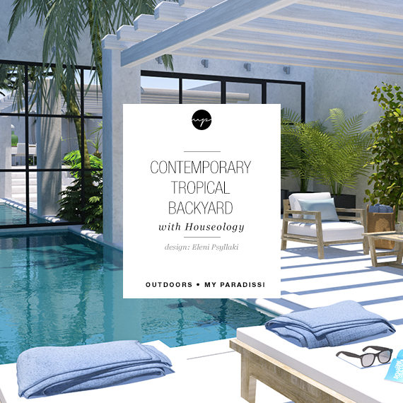 Contemporary tropical backyard with Houseology | My Paradissi