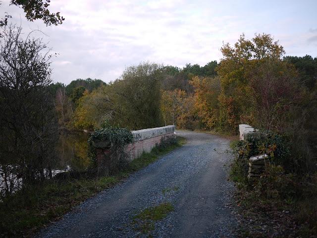 belles promenades à l'extrémité de l'étang aumée