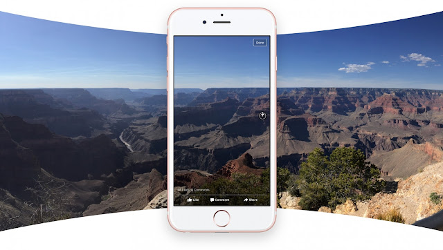 The Facebook Company announced the new feature and has been updated with support for sharing panoramic 360 degree photos for iOS and Android which is a great experience for users out there.