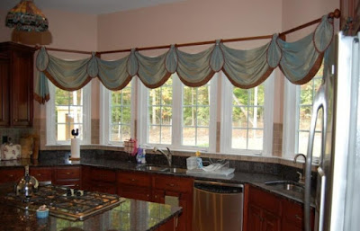 awesome kitchen bay window curtain ideas