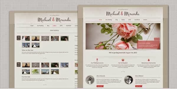 Wedding WordPress theme Presented by TipTechNews