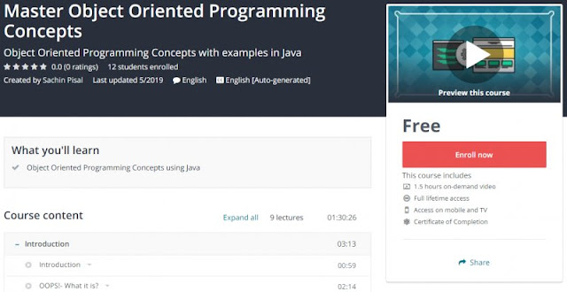 [100% Free] Master Object Oriented Programming Concepts