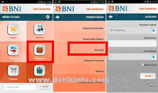 bayar BPJS melalui aplikasi bni SMS BANKING