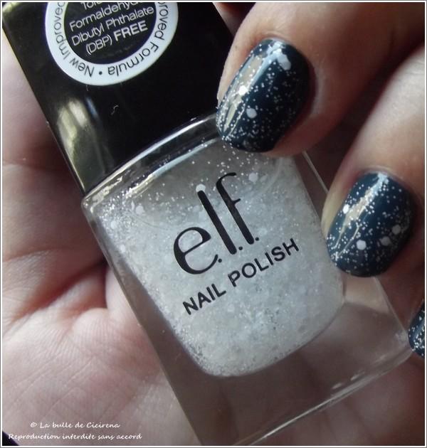 Enchanted (#25115), top coat ELF, swatch, vernis 3 free