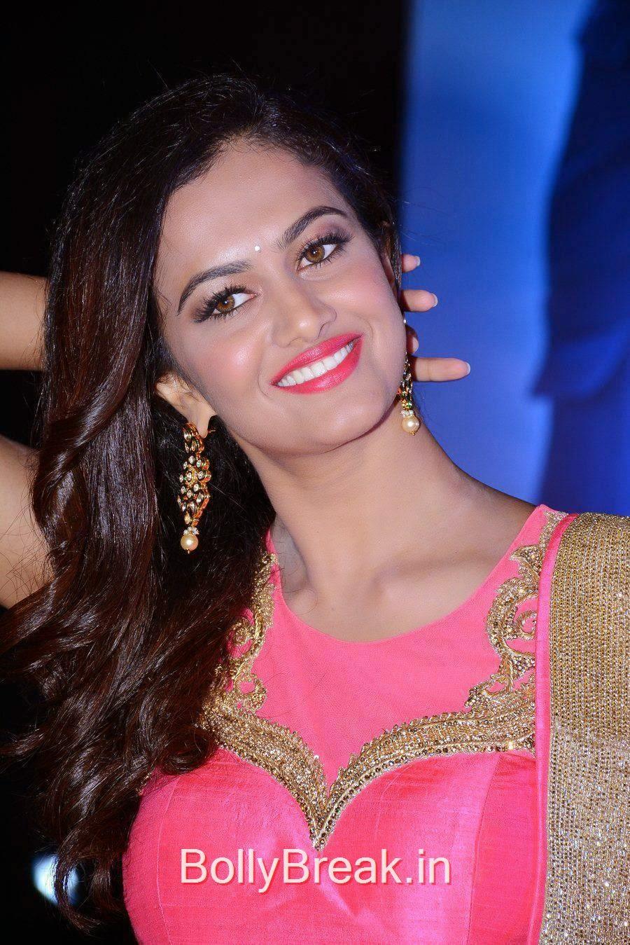 Tollywood Actress Shubra Aiyappa, Shubra Aiyappa Latest Hot Pics In Pink Lehenga from Sagaptham Movie Audio Launch
