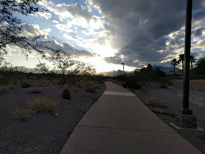 Stunning sunset in Summerlin, NV