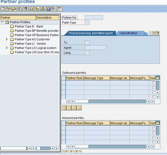 sap idoc partner profile tcode01