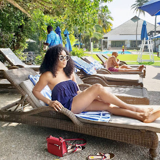 #BBNaija's Princess shows off Bikini bod on day out at poolside