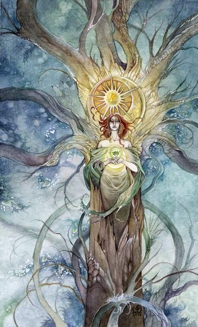 Resultado de imagem para rainha de ouros tarot