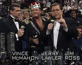 WWF / WWE SURVIVOR SERIES 1996: Vince McMahon and Jim Ross did commentary (Lawler joined for first match)