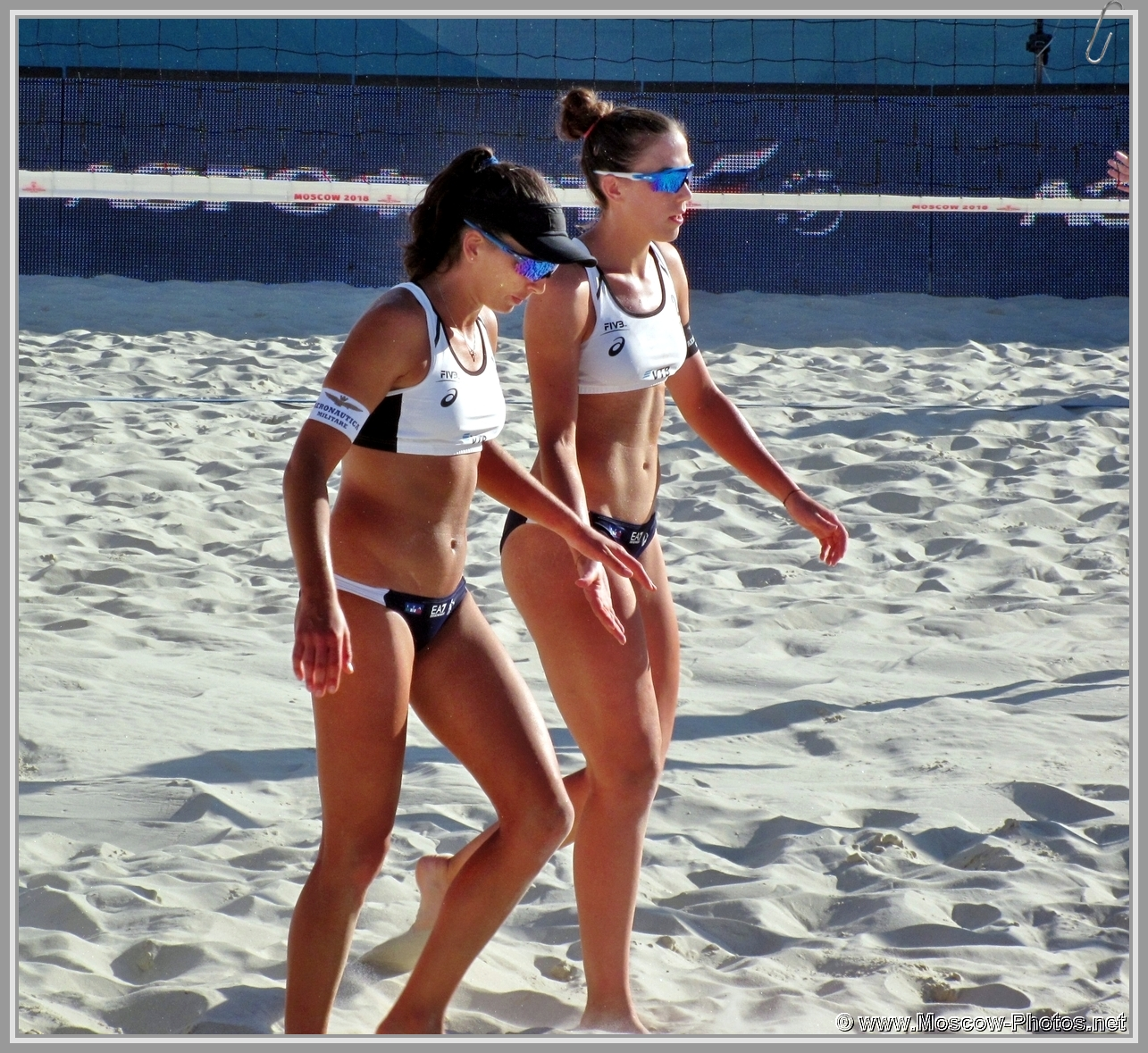 Marta Menegatti and Viktoria Orsi Toth at FIVB Beach Volleyball World Tour in Moscow 2018