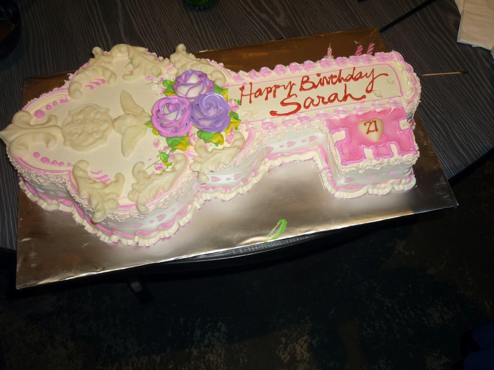 Elaine S Tender Loving Cakes Sarah S 21st Birthday