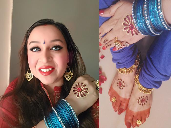 Indian Goddess Feet Worship