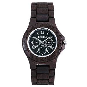 BEST OFFER Bewell men's wooden Watches Black sandal wood – £35.00 FREE Delivery