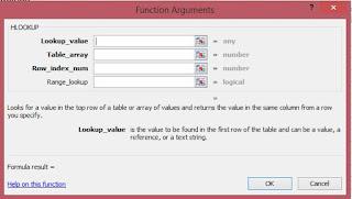 function argument rumus Hlookup
