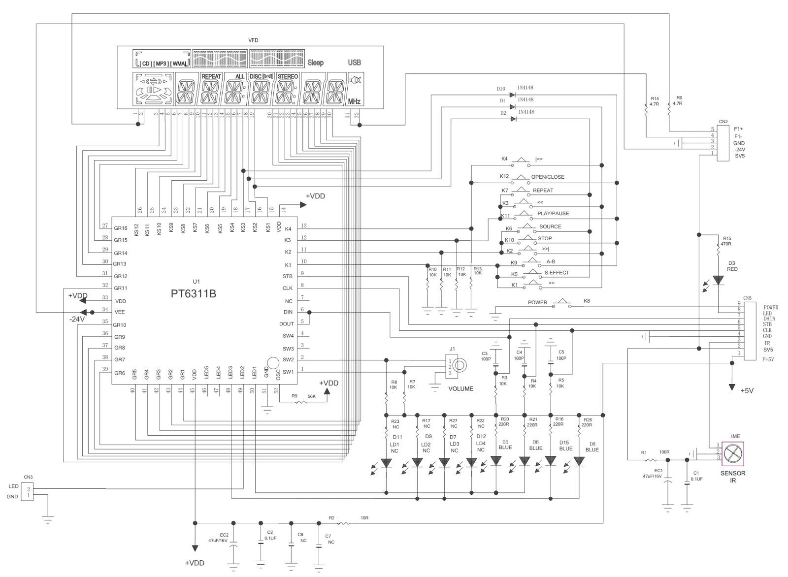 Toshiba Ms 9050 Ms9090 Mini System Fm Stereo Cd Mp3 Usb Schematic Processor