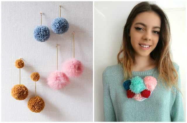 Pom - Pom Earrings