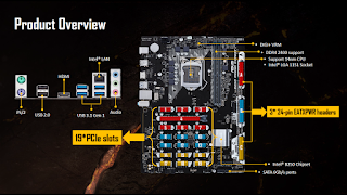 ASUS B250 Mining Expert board: support for 19 x GPUs 3