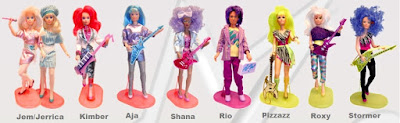 dolls jem jerrica kimber aja shana rio pizzazz roxy stormer cartoon collection