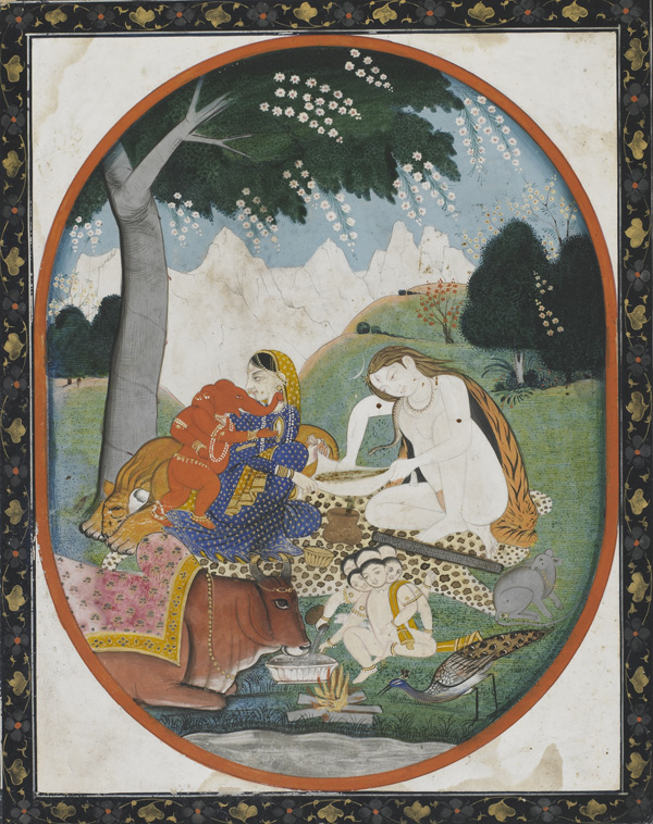 Romantic Radha Krishna Wallpaper Hd Shiva And Parvati With Their Sons Ganesha And Kartikeya