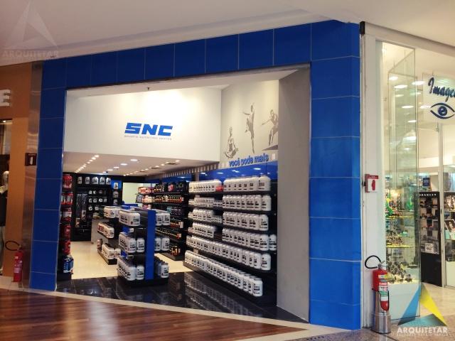 projeto loja suplementos fachada portal