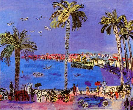 la promenade des anglais nice by raoul dufy. Black Bedroom Furniture Sets. Home Design Ideas