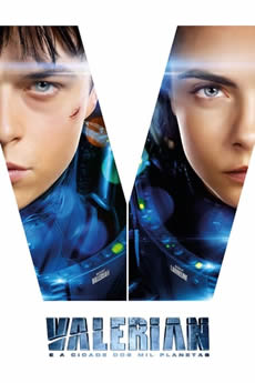 Capa Valerian e a Cidade dos Mil Planetas Torrent – Bluray 720p | 1080p Dual Áudio (2016) Download