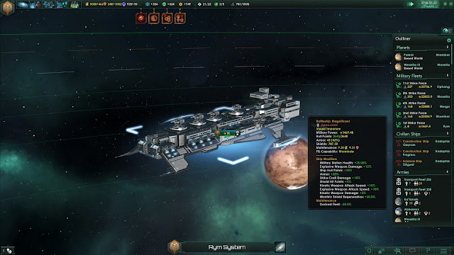 Review – Stellaris mammalian battleship