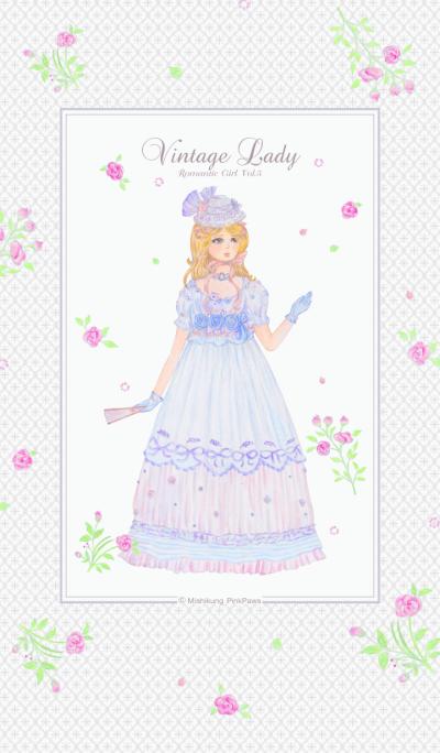 Vintage Lady Romantic Girl 5