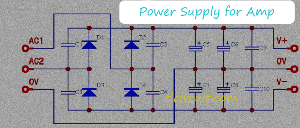 Dual Symmetrical Power Supply for Audio Amp