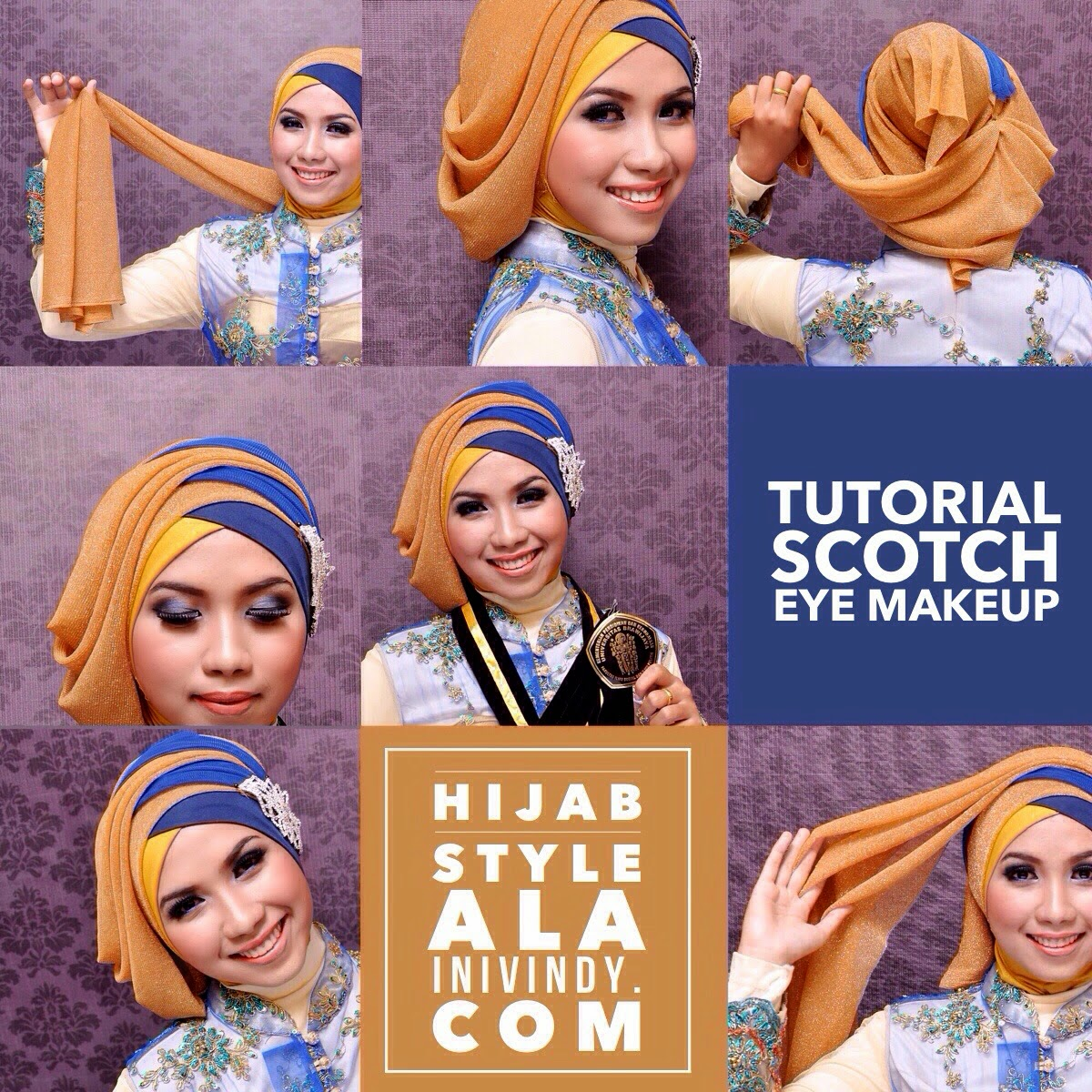 Tutorial Hijab Pesta Tile Bisa Didownload