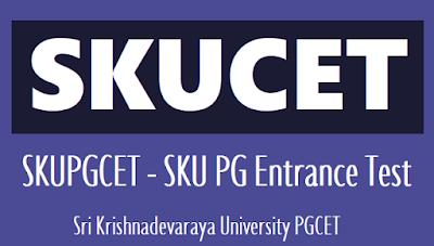 SKUCET 2019 Application Form - sku pgcet Sri Krishnadevaraya University