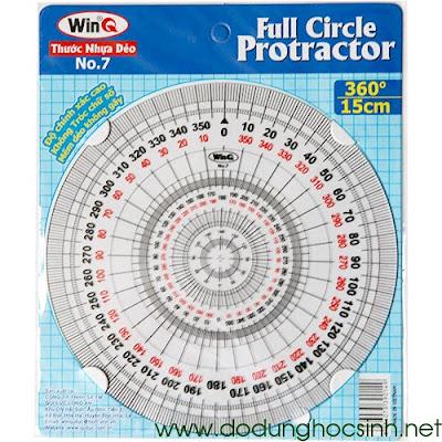 Thước đo độ hình tròn 360 độ No.7