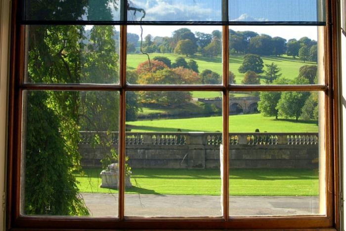 Vistas del parque de Chtasworth desde la casa