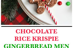 Christmas Chocolate Rice Krispie Gingerbread Men Pops